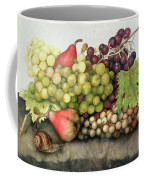 Snail With Grapes And Pears Coffee Mug