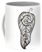 Snake On A Leaf Coffee Mug