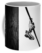 Sneakers On Power Line Coffee Mug