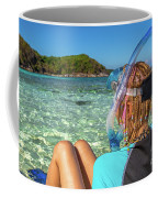 Snorkeler Relaxing On Tropical Beach Coffee Mug