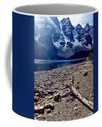 Snow Above Moraine Lake Coffee Mug