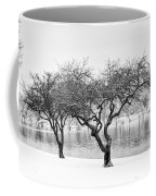 Snow Along The Schuylkill River Coffee Mug