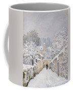 Snow At Louveciennes Coffee Mug by Alfred Sisley