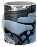 Snow Benches Coffee Mug