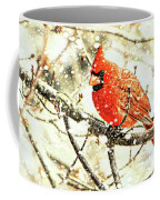 Snow Cardinal Coffee Mug