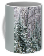 Snow-covered Forest, Wisconsin, Usa Coffee Mug