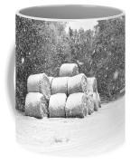 Snow Covered Hay Bales Coffee Mug