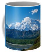 Snow-covered Mount Mckinley, Blue Sky Coffee Mug