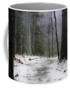 Snow Covered Path Quantico National Cemetery Coffee Mug