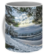 Snow Covered Pines Coffee Mug