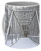 Snow Covered Pony Bridge Coffee Mug