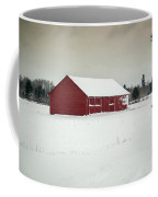 Snow Covered Red Barn Coffee Mug