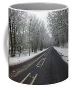 Snow Covered Road Coffee Mug