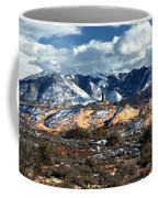 Snow Covered Utah Mountain Range Coffee Mug