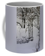 Snow Covered Wisteria Arch Coffee Mug