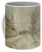 Snow Effect Coffee Mug by Claude Monet