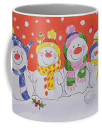 Snow Family Coffee Mug by Diane Matthes