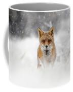 Snow Fox Series - Red Fox In A Blizzard Coffee Mug