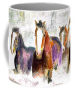 Snow Horses Coffee Mug