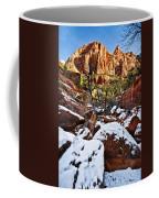 Snow In The Canyons Coffee Mug