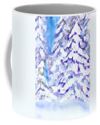 Snow Laden Trees Coffee Mug