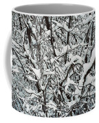 Snow On Branches Coffee Mug