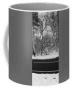 Snow On Fallen Tree Coffee Mug