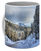 Snow On The Bow Valley Parkway Coffee Mug