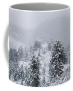 Snow On The Ridge In The Pike National Forest Coffee Mug