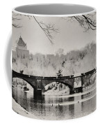 Snow On The River Coffee Mug