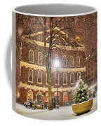 Snow Storm In Faneuil Hall Quincy Market Boston Ma Coffee Mug