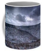 Snow Storm In The Mountains Coffee Mug