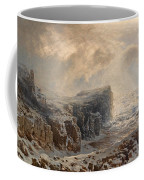 Snow Storm On A Northern Coast Coffee Mug