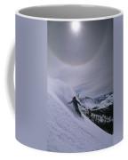 Snowboarding Down A Peak In Yosemite Coffee Mug