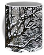 Snowfall And Tree Coffee Mug