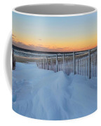 Snowfall At The Shore Coffee Mug