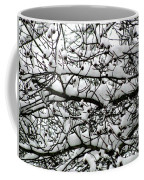 Snowfall On Branches Coffee Mug
