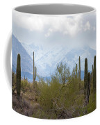 Snowfall On The Mountains Coffee Mug