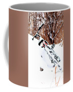 Snowing On The Bicycle Coffee Mug