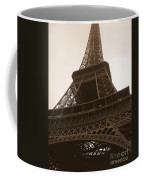 Snowing On The Eiffel Tower Coffee Mug