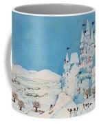 Snowman Castle Coffee Mug by Christian Kaempf