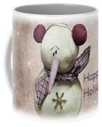 Snowman Greeting Card Coffee Mug