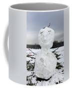Snowman On Epsom Downs Surrey Uk Coffee Mug