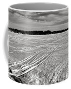 Snowmobile Tracks On China Lake Coffee Mug