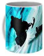 Snowmobiling On Icy Trails Coffee Mug by Elaine Plesser