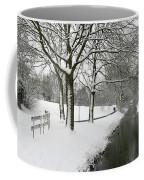 Walking On A Snowy Area Coffee Mug