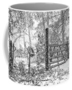 Snowy Cattle Gate Coffee Mug