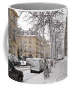 Snowy Day In Paris Coffee Mug
