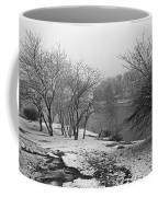 Snowy Day On Redd's Pond And Old Burial Hill Coffee Mug