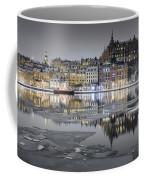 Snowy, Dreamy Reflection In Stockholm Coffee Mug